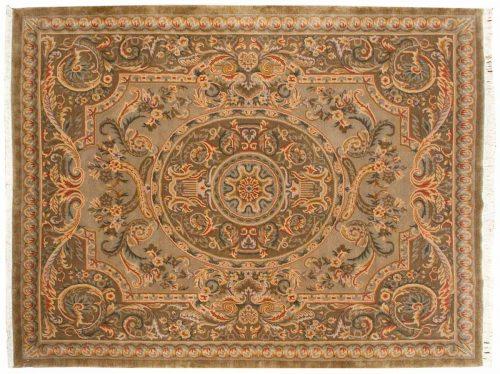 8×11 Savonnerie Gold Oriental Rug 026586