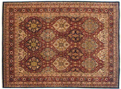 8×12 Dorasht Burgundy Oriental Rug 041868