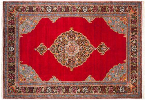8×12 Persian Tabriz Red Oriental Rug 011154