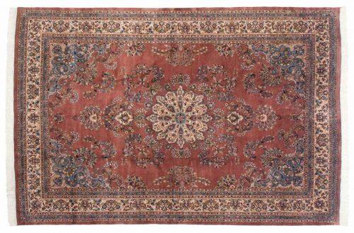 8×12 Sarouk Rose Oriental Rug 023559
