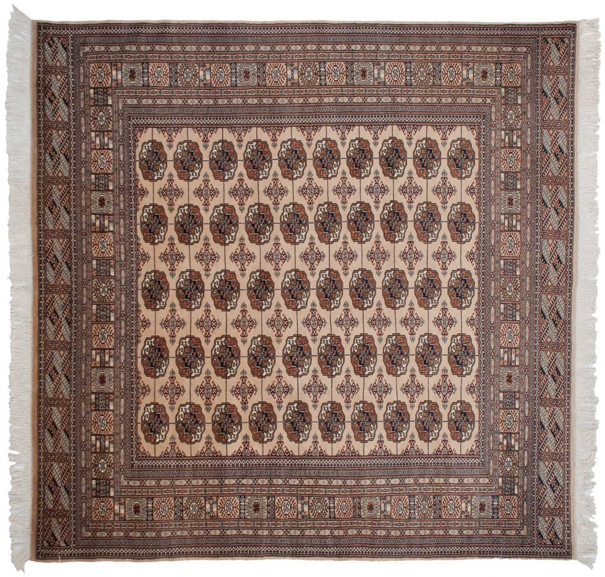 8 8 Bokhara Beige Oriental Square Rug 021797 Carpets By Dilmaghani