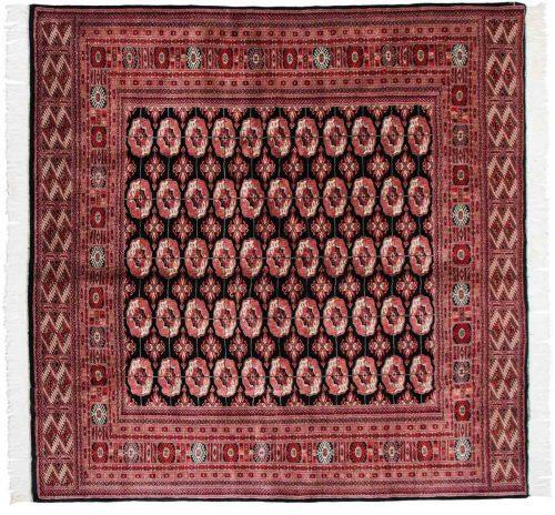 8×8 Bokhara Black Oriental Square Rug 021694