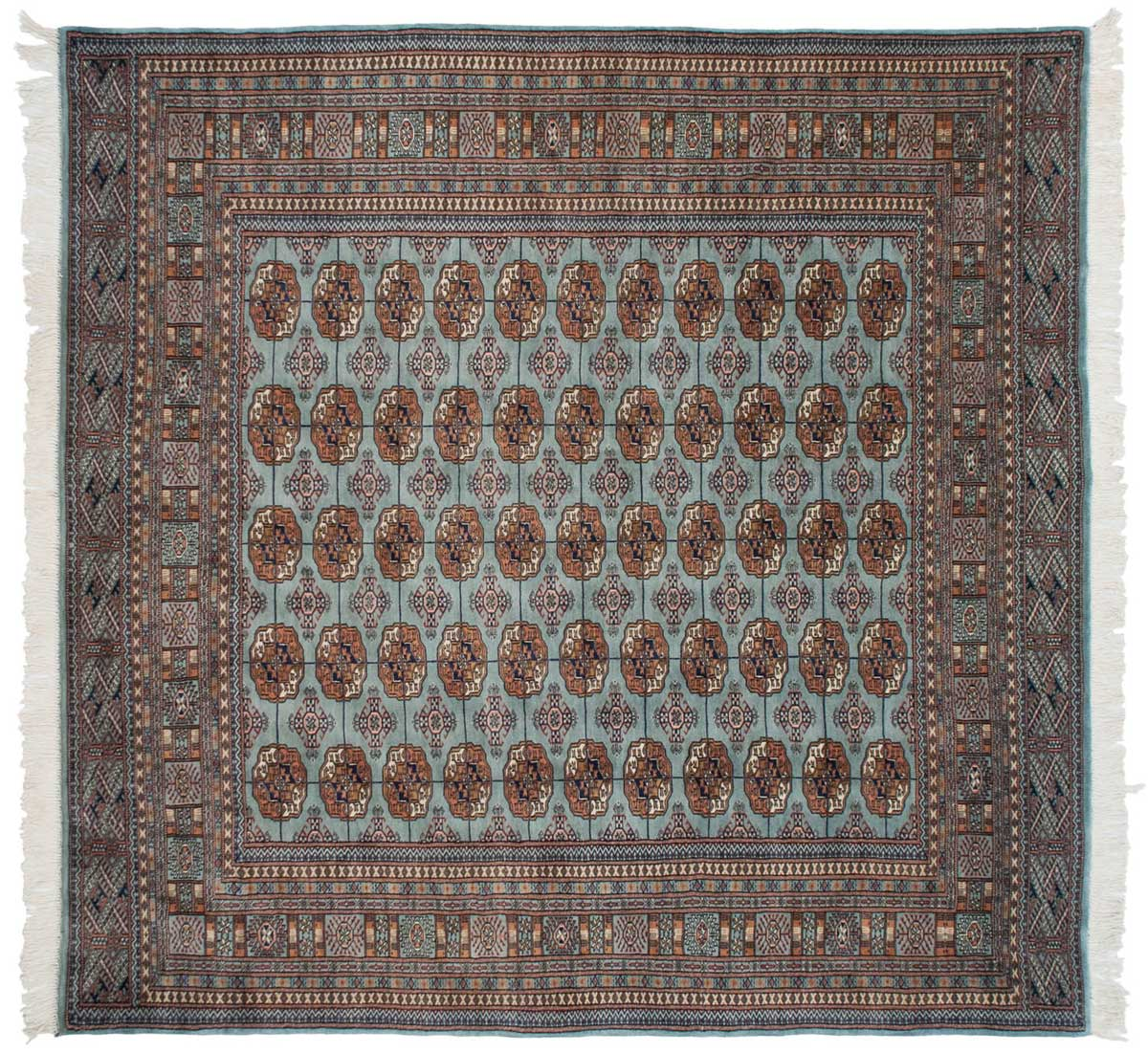8 215 8 Bokhara Blue Oriental Square Rug 021736 Carpets By