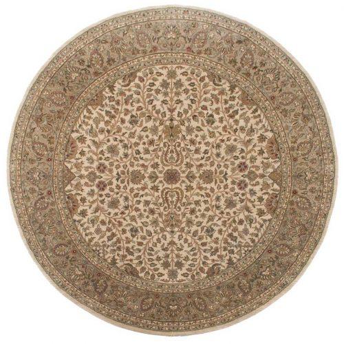 8×8 Jaipur Beige Oriental Round Rug 011494
