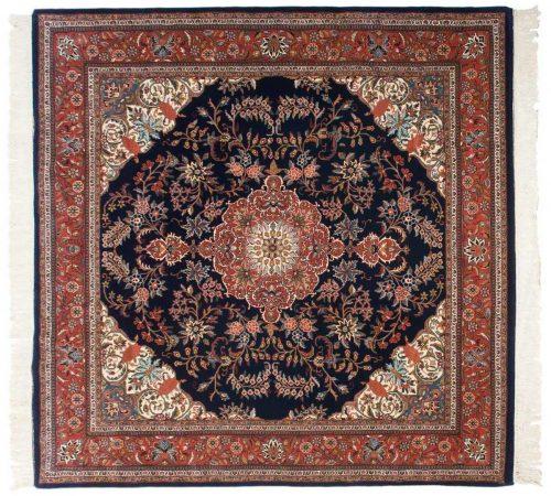 8×8 Kashan Blue Oriental Square Rug 031427