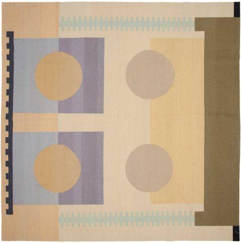 8×8 Nicholls Multi Color Oriental Square Rug 012943