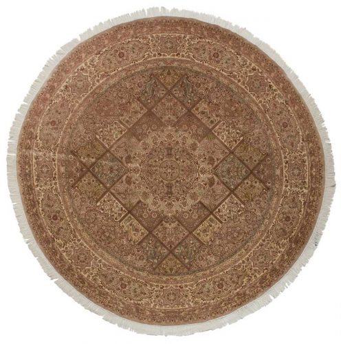 8×8 Persian Beige Oriental Round Rug 026101