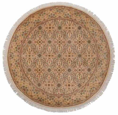 8×8 Persian Ivory Oriental Round Rug 026041