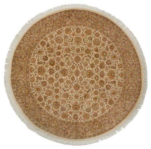 8×8 Persian Ivory Oriental Round Rug 026102