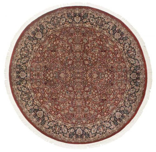 8×8 Persian Red Oriental Round Rug 026103
