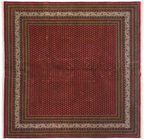 8×8 Sarouk Red Oriental Square Rug 026848