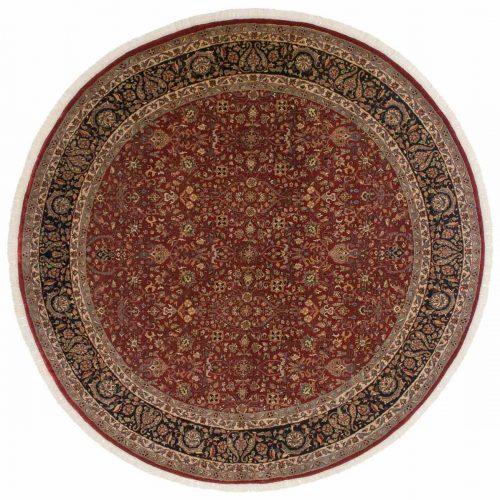 8×8 Tabriz Red Oriental Round Rug 042842