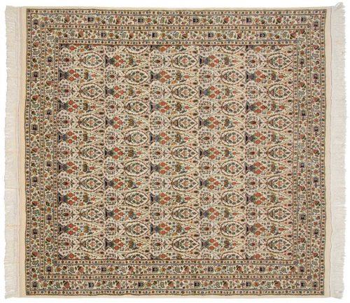 8×8 Zuli Sultan Ivory Oriental Square Rug 026215