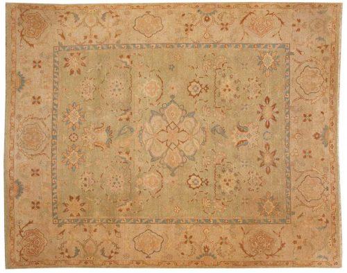 8×9 Agra Green Oriental Rug 017640
