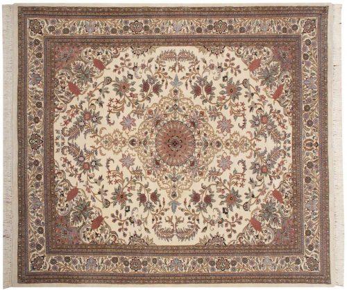 8×9 Kashan Ivory Oriental Rug 030967