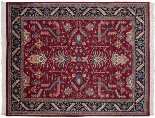 8×9 Heriz Burgundy Oriental Rug 026570