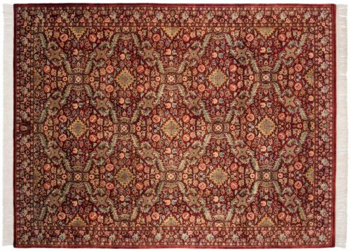 9×11 Aubusson Red Oriental Rug 032010