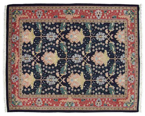 9×11 Voysey Blue Oriental Rug 024519