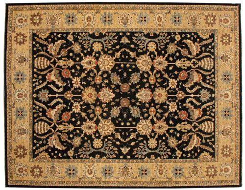 9×11 Chobi Black Oriental Rug 042352