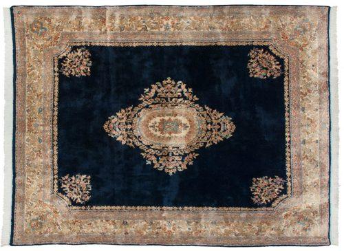 9×11 Persian Kerman Blue Oriental Rug 012335