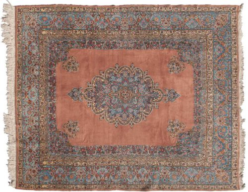 9×11 Persian Kerman Rose Oriental Rug 025452