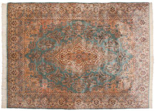 9×11 Persian Kerman Green Oriental Rug 017519