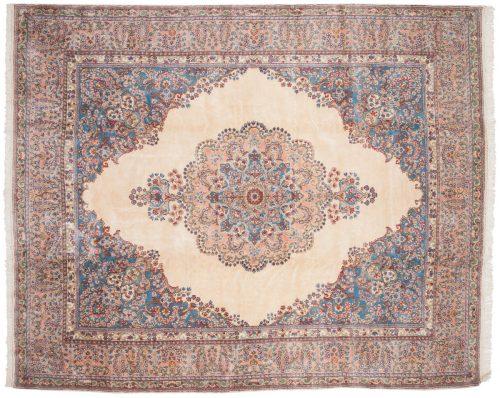 9×11 Persian Kerman Ivory Oriental Rug 017576