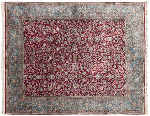 9×11 Persian Kerman Red Oriental Rug 025442