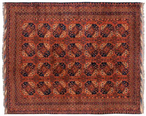 9×11 Taghan Rust Oriental Rug 025696