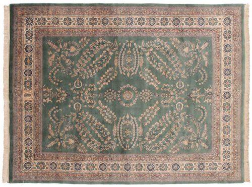 9×11 Sarouk Teal Oriental Rug 031015