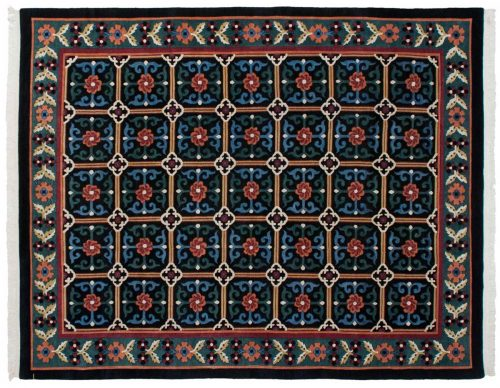 9×11 Tibetan Black Oriental Rug 016761