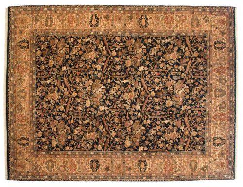 9×12 Agra Black Oriental Rug 014212