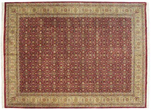 9×12 Agra Burgundy Oriental Rug 039526