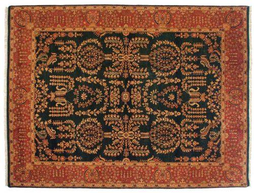 9×12 Sarouk Black Oriental Rug 014207