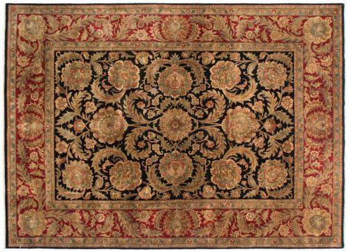 9×12 Agra Black Oriental Rug 029838