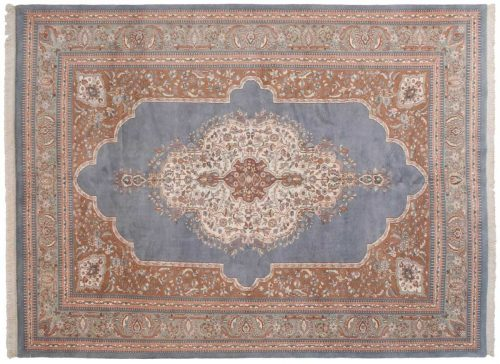 9×12 Tabriz Blue Oriental Rug 023412