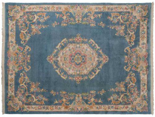 9×12 Savonnerie Blue Oriental Rug 030038