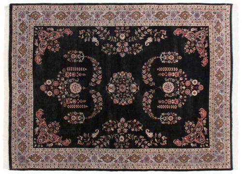 9×12 Caucasian Black Oriental Rug 036325