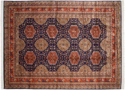 9×12 Caucasian Blue Oriental Rug 021734