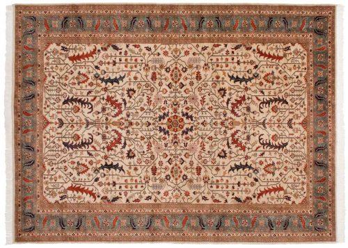 9×12 Caucasian Ivory Oriental Rug 021735