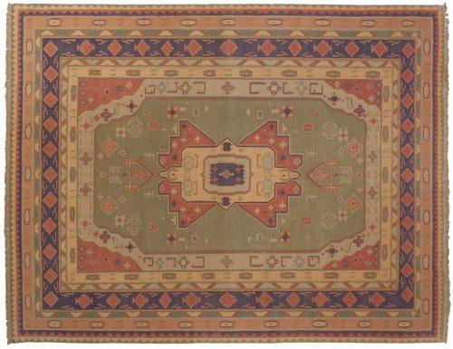 9×12 Dhurrie Green Oriental Rug 024064
