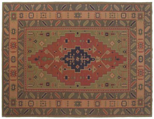 9×12 Dhurrie Red Oriental Rug 023971
