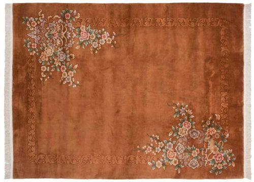 9×12 Floral Rust Oriental Rug 018350