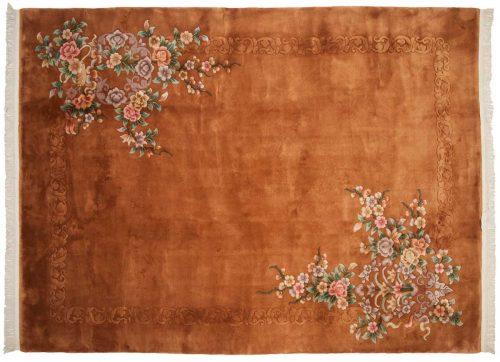 9×12 Floral Rust Oriental Rug 028554