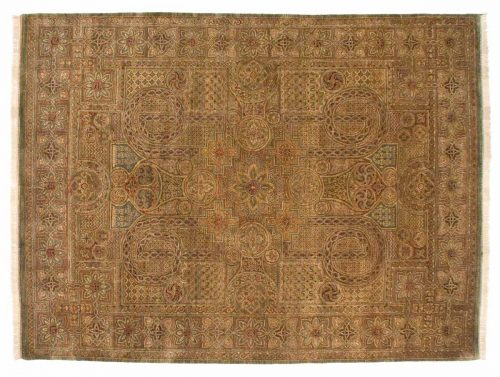 9×12 Art Deco Gold Oriental Rug 014287