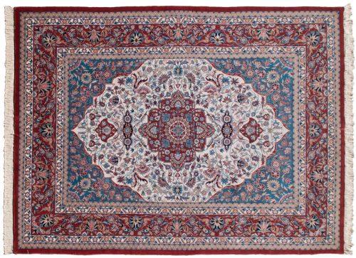 9×12 Kashan Ivory Oriental Rug 019345