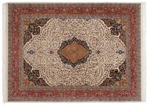 9×12 Tabriz Ivory Oriental Rug 035946