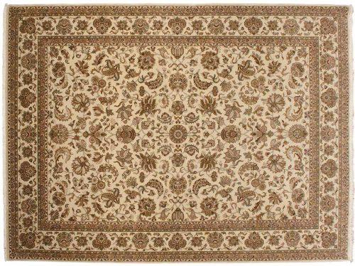 9×12 Kashan Ivory Oriental Rug 041433