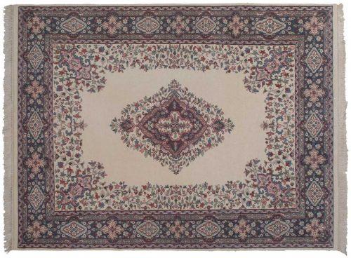 9×12 Kashan Ivory Oriental Rug 047679