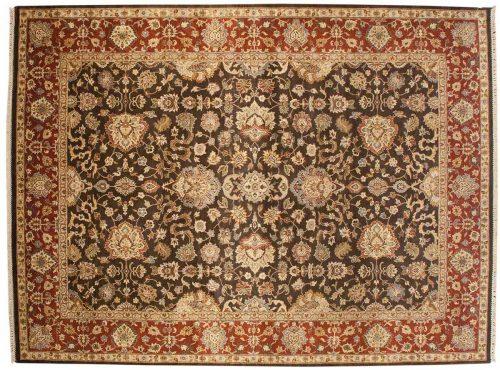 9×12 Jaipur Brown Oriental Rug 043124